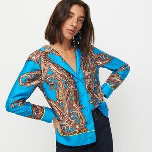 J.Crew Drapey Button-up Shirt In Paisley